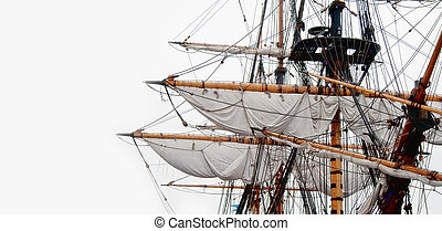 Ships rigging - Rigging on and old fashion kogg ship