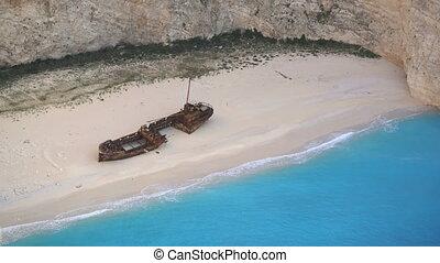 Shipwreck Bay Navagio Beach, Zakynthos, Greece - Shipwreck...