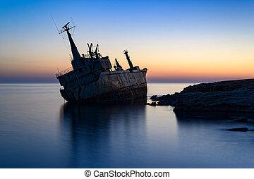 Shipwreck in Cyprus