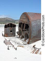 Shipwreck Kakapo at the beach of kommetjie