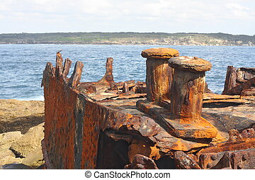 Shipwreck of SS Minmi in Sydney
