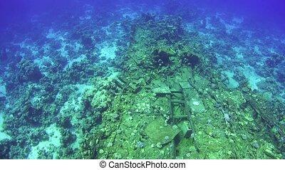 Shipwreck on the Sea Bottom