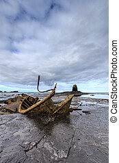Shipwreck - The wreck of the Admiral von Tromp on the rocks ...