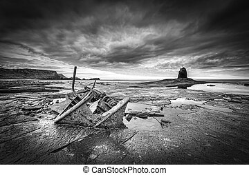 Shipwreck - The wreck of the Admiral von Tromp on the rocks...