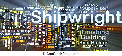 shipwright, baggrund, begreb, glødende