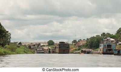 Shipyard, Amazon River, Peru