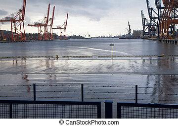 Shipyard in Gdynia (Poland)