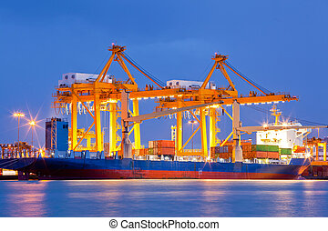 Shipyard Logistic Import Export - Container Cargo freight...