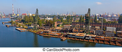 Shipyard panoramic view
