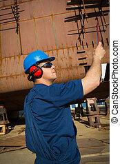 Shipyard worker