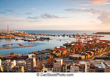 Shipyards in Piraeus, Athens.