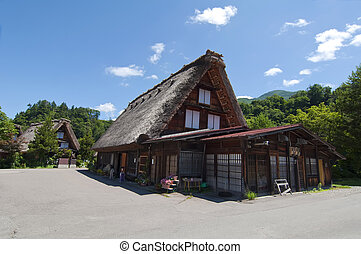 Shirakawago,Japan - Typical house in Japan Shirakawago
