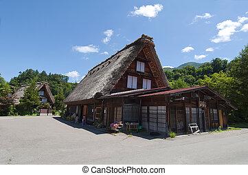 Shirakawago,Japan - Typical house in Japan Shirakawago