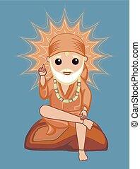 shirdi, sai, baba, -, dios hindú