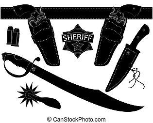 shiriff's, セット, 武器