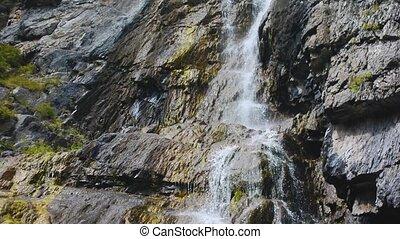 Shirlak waterfall in rocks Altai Mountains - Shirlak...