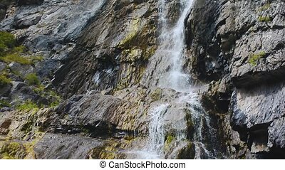 Shirlak waterfall in rocks Altai Mountains - Shirlak...