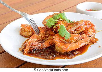 Shirmp with tamarind sauce ,Thai food - The kind of thai...