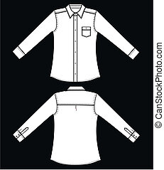 shirt - a garment sketch for textile and fashion industry