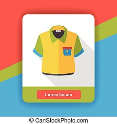 shirt clothes flat icon