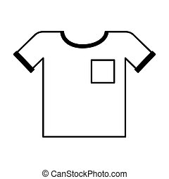 shirt clothes isolated icon