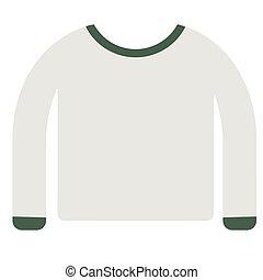Shirt flat illustration on white
