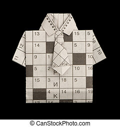 Shirt folded origami style - Isolated paper made...