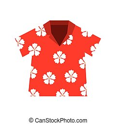 shirt hawaiian flowers red