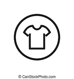Shirt icon on a white background