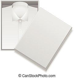 Shirt in box on a white background.