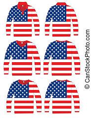 Shirt Long-sleeved America Flag