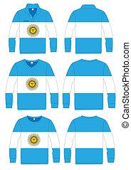 Shirt Long-sleeved Argentina Flag