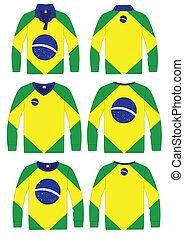 Shirt Long-sleeved Brazil Flag