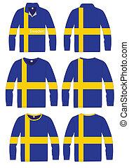 Shirt Long-sleeved Flag Sweden
