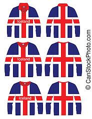 Shirt Long-sleeved iceland Flag