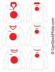 Shirt Long-sleeved japan Flag