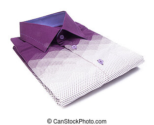 shirt. mens shirt folded on a background - shirt. mens shirt...