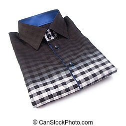 shirt. mens shirt folded on a background