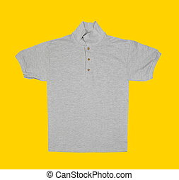 shirt on yellow background