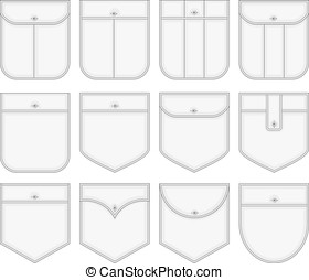 Shirt pockets. - Vector collection of shirt pockets. No...