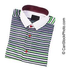 shirt., ráncos, ing, háttér, mens