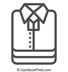 Shirt stack line icon, shopping concept, stacked folded clothes sign on white background, Stack of shirt icon in outline style for mobile concept and web design. Vector graphics.