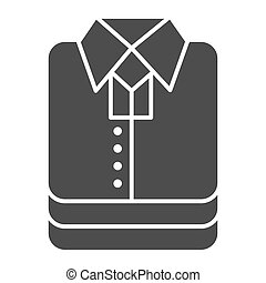 Shirt stack solid icon, shopping concept, stacked folded clothes sign on white background, Stack of shirt icon in glyph style for mobile concept and web design. Vector graphics.