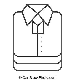 Shirt stack thin line icon, shopping concept, stacked folded clothes sign on white background, Stack of shirt icon in outline style for mobile concept and web design. Vector graphics.