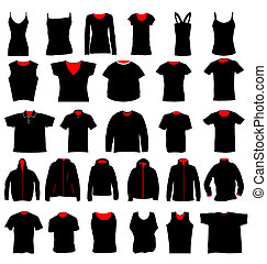 shirt templates - many shirts in different shapes and styles