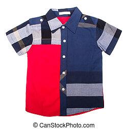 "shirt., usure enfants, fond, ""boy"""