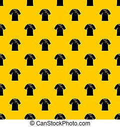 Shirt with flag of Brazil sign pattern