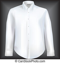 Shirt with long sleeves - Formal shirt with button down ...