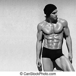 shirtless, macho, modelo