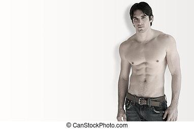 shirtless, uomo